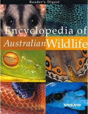 Front cover of Reader's Digest Encyclopedia of Australian Wildlife Book with contributions by Peter Rowland