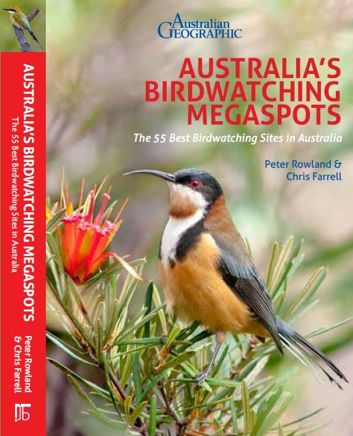 Front cover of Australia's Birdwatching Megaspots Book by Peter Rowland & Chris Farrell